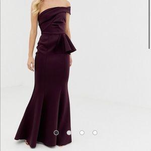 ASOS (out of stock!) bardot fishtail maxi dress
